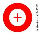 positive symbol plus sign....   Shutterstock .eps vector #492658582