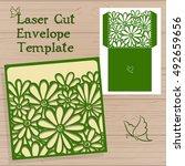 wedding invitation or greeting... | Shutterstock .eps vector #492659656