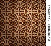 islamic oriental pattern ... | Shutterstock .eps vector #492659878