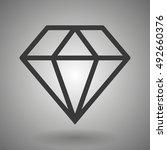 line diamond icon on a gray...