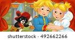 cartoon scene of married couple ...   Shutterstock . vector #492662266