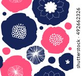 floral decorative seamless... | Shutterstock .eps vector #492662326