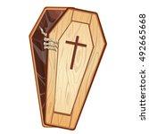 illustration of a dead man... | Shutterstock . vector #492665668