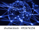 abstract technology neural... | Shutterstock . vector #492676156