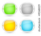 vector set of web interface... | Shutterstock .eps vector #49268029