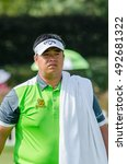 Small photo of CHONBURI - DECEMBER 13 : Kiradech Aphibarnrat of Thailand player in Thailand Golf Championship 2015 at Amata Spring Country Club on December 13, 2015 in Chonburi, Thailand.