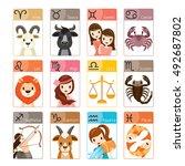 Zodiac Signs Icons Set ...