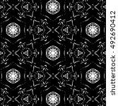 black and white ornament. a  | Shutterstock . vector #492690412