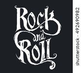 rock music print  hipster... | Shutterstock .eps vector #492690982