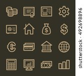 money web icons | Shutterstock .eps vector #492698896