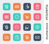 shopping web icons | Shutterstock .eps vector #492698956