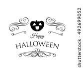 smile pumpkin  happy halloween. ...   Shutterstock .eps vector #492699052