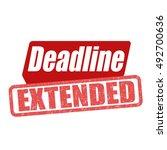 deadline extended grunge rubber ... | Shutterstock .eps vector #492700636