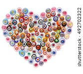 heart made of colorful glass...   Shutterstock . vector #492702322