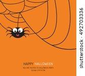 halloween banner. background... | Shutterstock .eps vector #492703336
