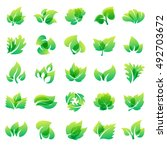 green leaf eco design element... | Shutterstock .eps vector #492703672