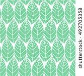 seamless stylized leaf pattern. ... | Shutterstock .eps vector #492705358