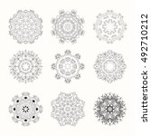 hand drawn mandala set can be... | Shutterstock .eps vector #492710212