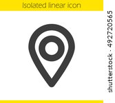 pinpoint linear icon. thick... | Shutterstock .eps vector #492720565
