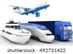 transport. 3d render... | Shutterstock . vector #492731422