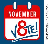 reminder to vote in the presidential election on November 8th banner, poster design