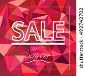 sale up to fifty percent off... | Shutterstock .eps vector #492742702