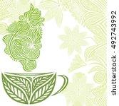 Green Tea. Vector Illustration.