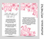 invitation with floral... | Shutterstock . vector #492748762