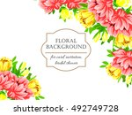 abstract flower background with ... | Shutterstock . vector #492749728