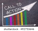 call to action written with... | Shutterstock . vector #492753646