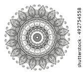beautiful mandala   Shutterstock .eps vector #492754558