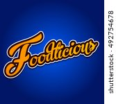 foodl logo type | Shutterstock .eps vector #492754678