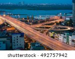 hanoi cityscape. aerial view of