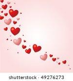 hearts background vector | Shutterstock .eps vector #49276273