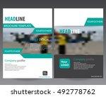 green modern annual report... | Shutterstock .eps vector #492778762