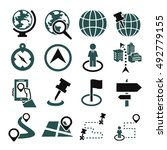 location  place icon set | Shutterstock .eps vector #492779155