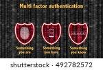 multi factor authentication... | Shutterstock . vector #492782572