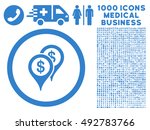 bank places icon with 1000... | Shutterstock .eps vector #492783766