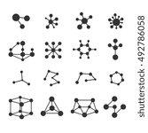 molecules icons vector set....   Shutterstock .eps vector #492786058