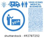 2016 show icon with 1000... | Shutterstock .eps vector #492787252