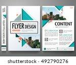 flyers design template vector.... | Shutterstock .eps vector #492790276