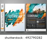 flyers design template vector.... | Shutterstock .eps vector #492790282