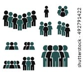 people icon set | Shutterstock .eps vector #492791422