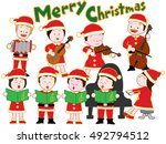 the christmas concert of... | Shutterstock .eps vector #492794512