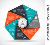 vector heptagon infographic.... | Shutterstock .eps vector #492794875