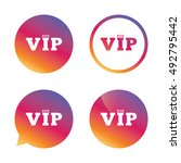 vip sign icon. membership... | Shutterstock .eps vector #492795442