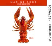 red lobster. marine food | Shutterstock .eps vector #492796306