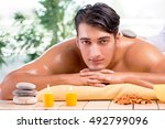 young handsome man during spa... | Shutterstock . vector #492799096