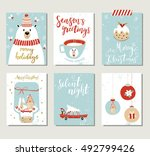 set of creative 6 journaling... | Shutterstock .eps vector #492799426