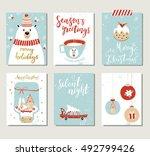 set of creative 6 journaling... | Shutterstock .eps vector #492799426